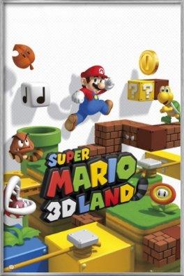 Super Mario 3D Land - Framed Gaming Poster / Print (Size: 24