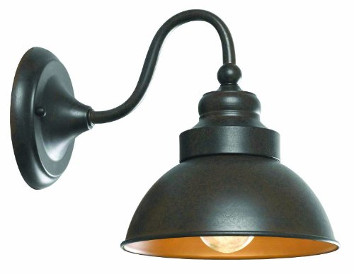 New Street Outdoor Sconce - World Imports 9121S-89 Dark Sky Magazine Street Collection Single Light Exterior Short Arm Wall Sconce, Bronze
