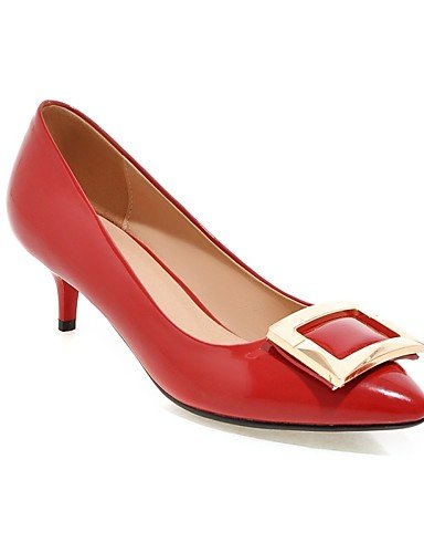 Casual Red negro 5 Stiletto us10 Rojo 5 Plata Cn36 Eu42 Rosa tacones De Y Uk8 Zapatos Golden Mujer Blanco Eu36 us6 Trabajo sintético Oficina Uk4 exterior tacones tacón Cn43 Ggx ROPq4P