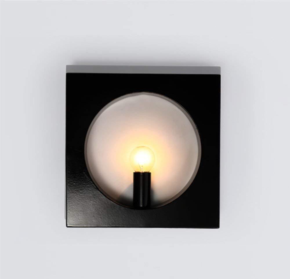 YWJWJ Wall Lamp Living Room Comodino Hotel Passerella Green Creative Retro Iron,Bianca