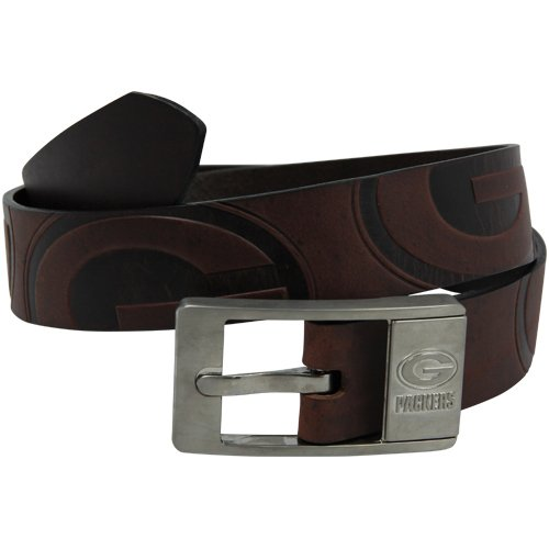 NFL Green Bay Packers Brandish Leather Belt - Brown (36)