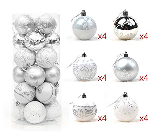 ALIMITOPIA 24pcs Christmas Ball Baubles,2.4