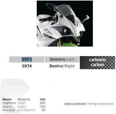 Effet Carbone Noir avec Fixation de vis M.6 Compatible avec Les r/étroviseurs Yamaha FZ1 1000 FAZER