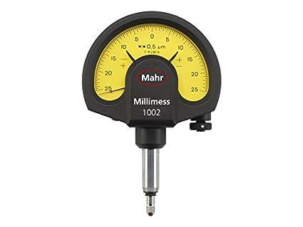 Mahr Federal 4335000 1002 Millimess mecánico Dial comparador de, ± 25 micrones. Gama, 0,5 micrones. Resolución, 8 mm Tallo, amarillo: Amazon.es: Amazon.es