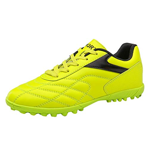 Yucode Mens Soccer Cleats Training Sneaker Outdoor Soccer Shoes Turf Shoe Indoor Cross Training Shoe Yellow
