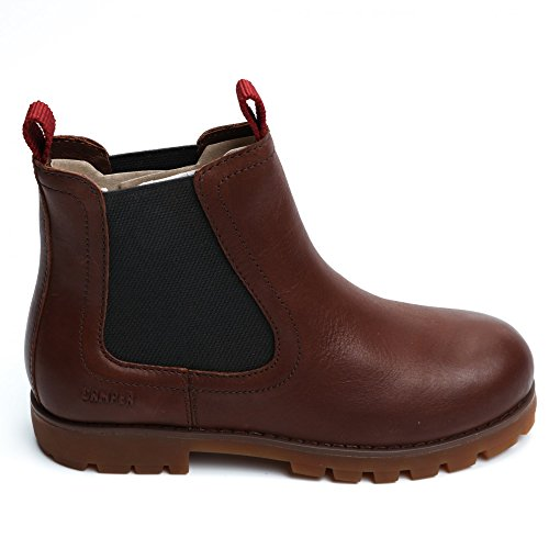 CAMPER Kids Compas Oilylusion Cola Ankle Boot Brown