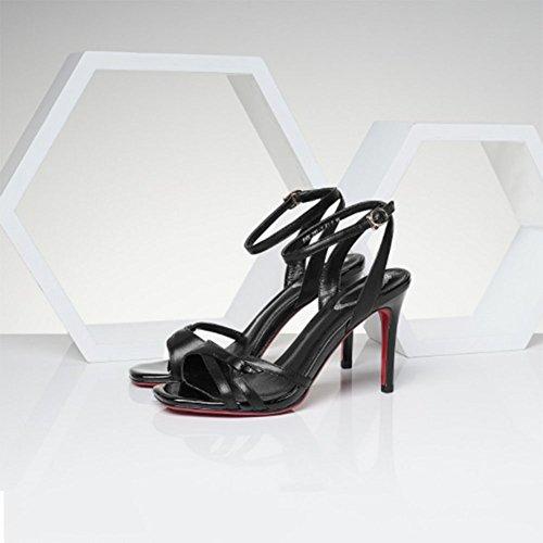 ZHWEI Sandalen Absatzhöhe Pumps und Sommer Frau Frühling 9cm S106 WnBYgWO4