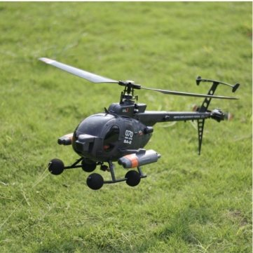 (FX070C 2.4G 4CH 6-Axis Gyro Flybarless MD500 Scale RC Helicopter by CTU BroHall)