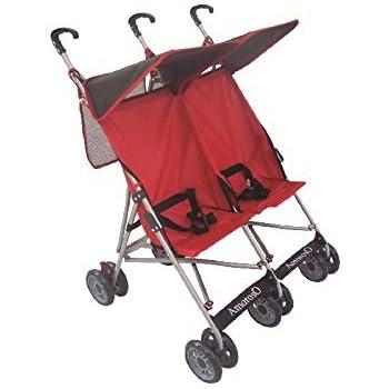 Amazon Com Amoroso Twin Baby Stroller Black Red Sports