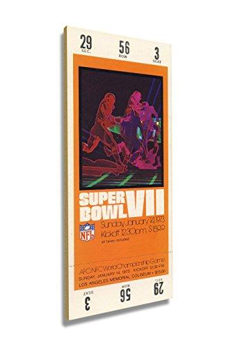 - Winning Streak Super Bowl VII (7) Mini-Mega Ticket - Miami Dolphins
