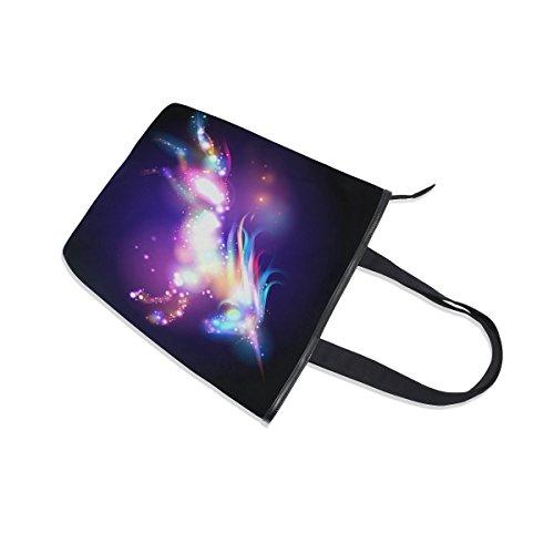 MyDaily Bag Tote Womens Shoulder Canvas Handbag Colorful Unicorn Galaxy Ta7xwTq