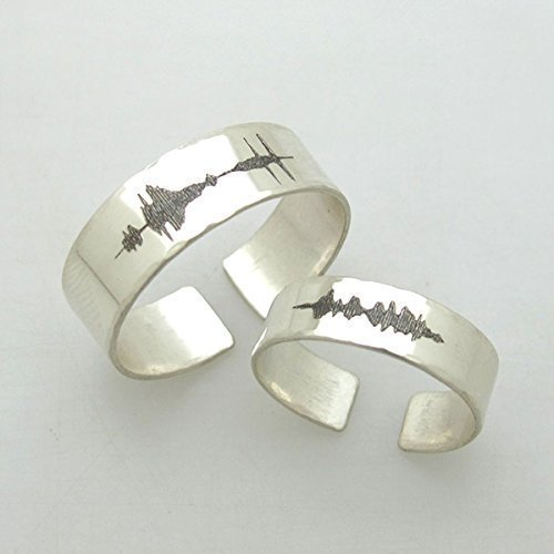 I love you waveform ring