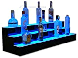 "42"" Three Step Lighted Back Bar Shelves with LED Lighting"