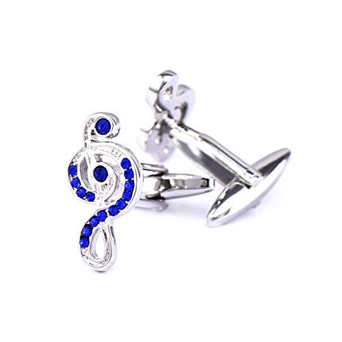 - Epinki Cufflinks for Men Silver Notes Cubic Zirconia Cufflinks Fashion Tuxedo Cufflinks Business Wedding