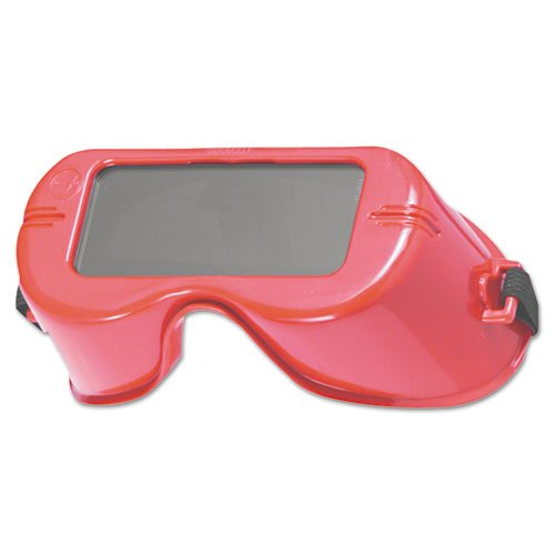 Jackson Welding Goggle - Jackson Safety 15986 V100 WR Cutting Goggles, IRUV Shade 5.0 Lens with Red Frame (Pack of 24)