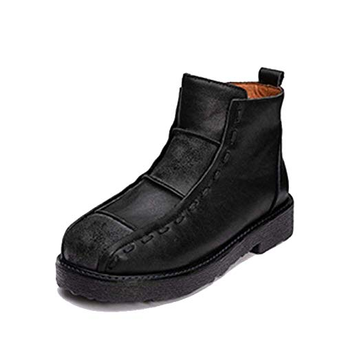 Fermeture glissière Wearable à Vintage Black en Casual Confortable Ladies Chaussures cuir Zpedy qfwRUU