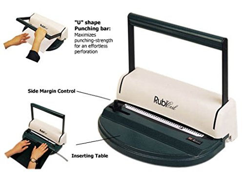 Akiles Rubi Coil Spiral CoilBind Paper Punch & Coil Book Binder by GBC