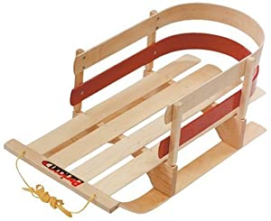 Amazon Com Flexible Flyer Wooden Baby Sleigh Snow