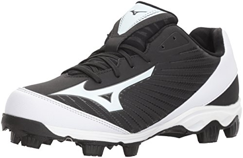 Mizuno (MIZD9) Women's 9-Spike Advanced Finch Franchise 7 Fastpitch Cleat Softball Shoe, Black/White, 6 B US - Mizuno Womens 9 Spike