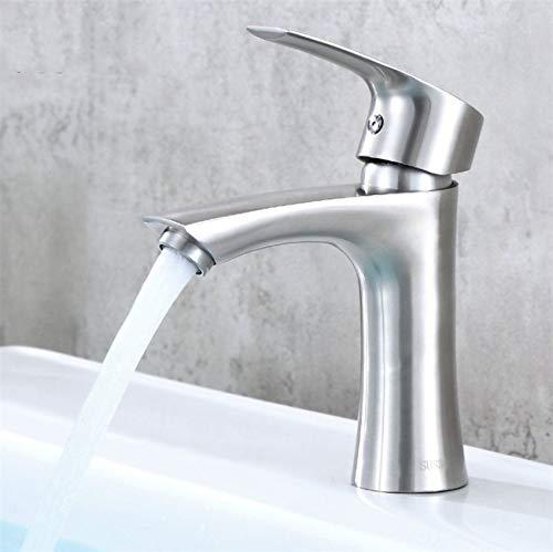 JONTON Wasserhahn Wasserhahn Wasserhahn, 304 Edelstahl hochhackigen Becken Heißes und Kaltes Badezimmer Waschbecken Becken Ventil