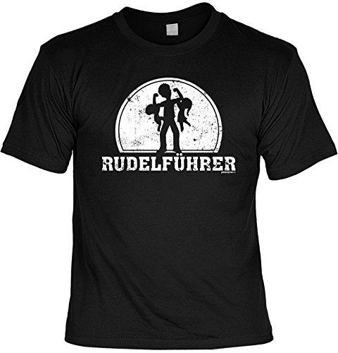 T-Shirt - Rudelführer - lustiges Sprüche Shirt als Geschenk zum Vatertag für Väter mit Humor