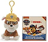 GUND Paw Patrol Bundle of 2, 4' Rubble Backpack Clip and Blind Box Series #1