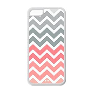 Generic Popular Pink Fade Chevron Zigzag TPU Back Cases Covers for Iphone 5c