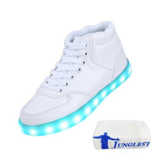 [+Pequeña toalla]De carga USB zapatos de los niños chicos que emite luz zapatos zapatos de los zapatos luminosos LED iluminados deportiva c22