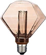 Foco Vintage LED Atenuable / Luz suave cálida, Base E27, Ambar Tecnolite 3DD125LEDFC20VA