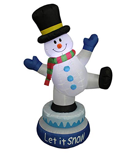 Animated Lighted Outdoor Snowman