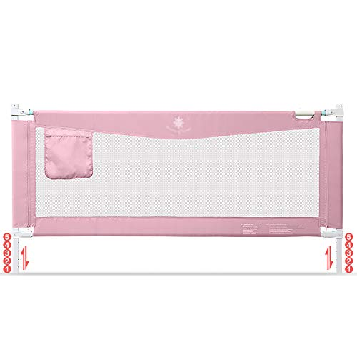 Price comparison product image Child safety gates Bed Rails for Toddlers Toddler Bed Rail Guard for Convertible Crib,  Kids Twin,  Double,  Full Size Queen & King Mattress (Size : 220cm)