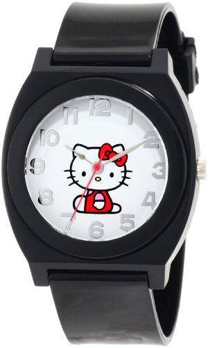 - Hello Kitty Women's H3WL1017BLK Red Plastic Case Rubber Strap Full Body Center Watch