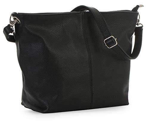 LIATALIA Women's Medium Hobo Shoulder Bag Genuine 100% Italian Leather Stylish & Elegant Design - ADAL ()