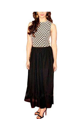 339d4f4195aa Royal Export Women s A-Line Knee-Long Dress (G7 Aliya S Black S ...