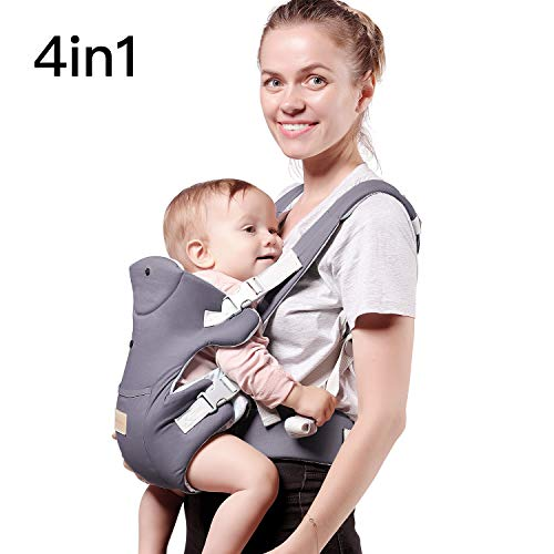 TIANCAIYIDING Ergonomic Baby Carrier Wrap with Hip Seat Soft Breathable Cotton