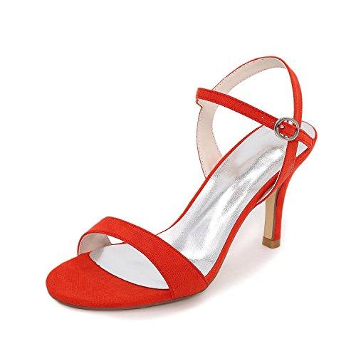 Mariage Sandales Cuir Soirée Matières amp; yc Habillé Evénement Boucletalon Personnalisées Eté Red Strass Femme Chaussures Verni L wISEfzHqq