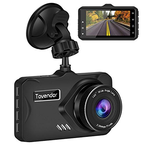 """Tovendor DVR Recorder for Cars, FHD 1080P Dash Camera 3"""" IPS Screen Car Driving Recorder with G-Sensor WDR, Night Vision and Motion Detection"""