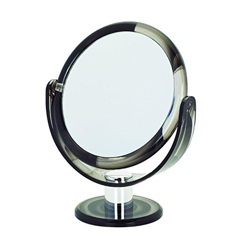Danielle Round Tortoise Vanity Mirror, Grey Swirl