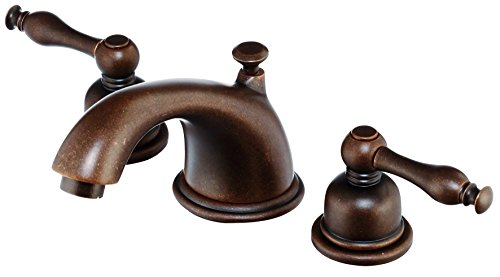 (Danze D304155BR Sheridan Two Handle Widespread Lavatory Faucet, Tumbled Bronze)