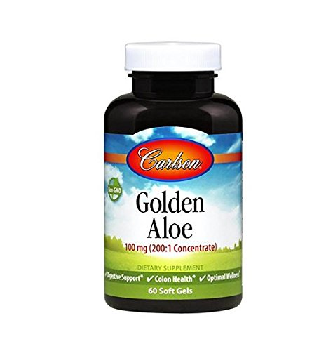 Carlson Labs Golden Aloe 100mg Soft-gels, 60 Count