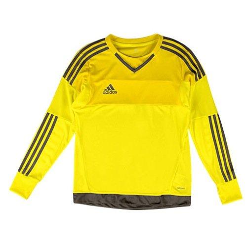 adidas Kids KidsLittle Top Goalkeeping Jersey (Little Big Kids), Bright Yellow/Branch, LG (14