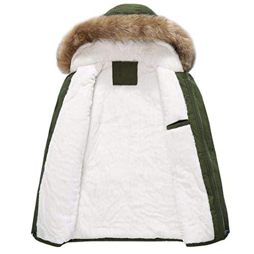 Cotton Armeegrün Outdoor Coat with Winter Collar Jacket Coat Jacket Quilted Jacket Young Fur Down Winter Jacket Jacket Men Fashion Winter Parka 5AwSRqxR1