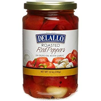 (DeLallo Pepper, Roasted Red with Garlic 12.0 OZ(Pack of 1))