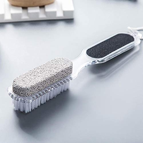 Foot Brush Scrubber Feet Massage Pedicure Tool Scrub Brushes Spa Shower Remove Dead Skin Foot Care Tool - Gray