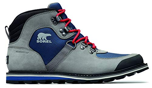 Sorel - Men's Madson Sport Hiker Waterproof Leather Boots, Carbon, 10.5 M US (Best Ski Boots For Wide Feet 2019)