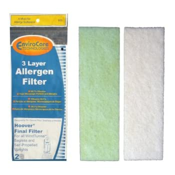 (2) Hoover WindTunnel Self Propelled 3 Layer Final Vacuum Filters, Bagless, Upright, Widepath, Empower, Foldaway, PowerMax Vacuum Cleaners, 40110006, 38766021, 38766-021, H-38766021