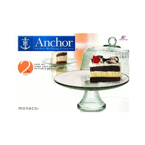 Anchor Hocking Monaco Cake Ribbed