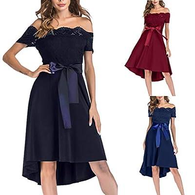 Dresses for Womens,DaySeventh Women Vintage Princess Floral Lace Cocktail Off Shoulder Party Aline Swing Dress