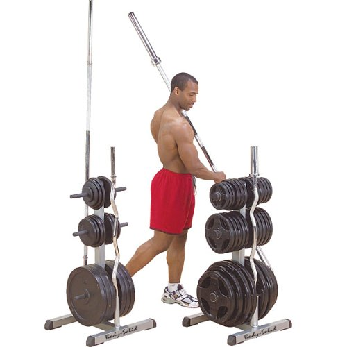 Body-Solid GOWT Olympic Plate Tree Bar Holder