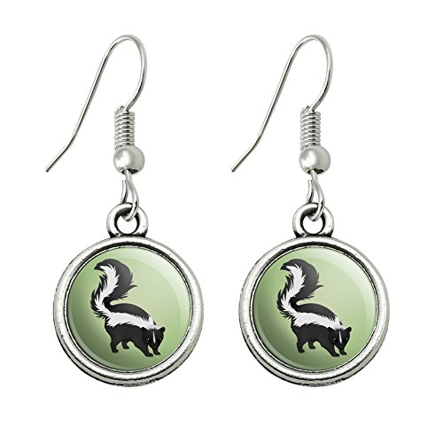 GRAPHICS & MORE Skunk Posing Novelty Dangling Drop Charm Earrings ()